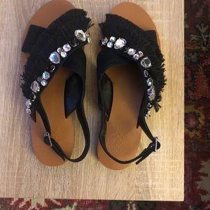 Vince Camuto Ampella Embellished Fringe Sandal